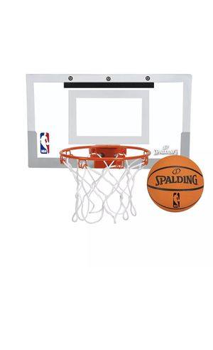 spalding nba slam jam over-the-door mini basketball hoop for Sale in Bronx, NY