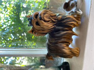 Porcelain cute doggie statue 4 inches tall marked numbered for Sale in West Palm Beach, FL