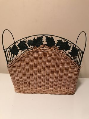 Wicker Magazine Rack for Sale in Slatington, PA