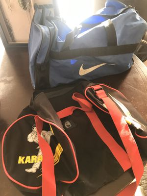 Nike and karate duffle bags for Sale in Henderson, NV