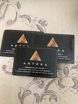 Wine tasting pass -Artesa for Sale in Union City, CA