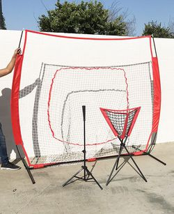 New in box $90 Baseball Practice (3pc Set) includes the 7'x'7 Net Bow Frame, Ball Tee and Caddy Bag for Sale in El Monte,  CA