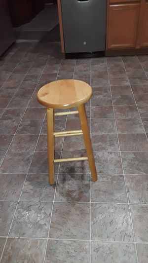 One Wood Bar Stool for Sale in Laveen Village, AZ
