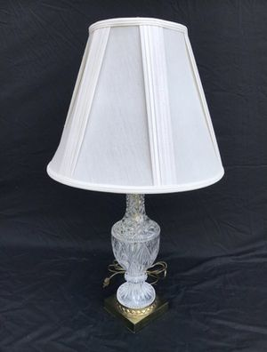 Three Old Vintage Designer Crystal Glass Night Light Lamp for Sale in Lewisville, TX