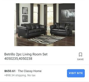 ASHLEY'S 2 piece Betrillo Loveseat and Couch for Sale in Fort Wayne, IN