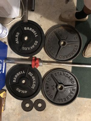 "2"" Olympic Weights and Bar for Sale in Shelton, CT"