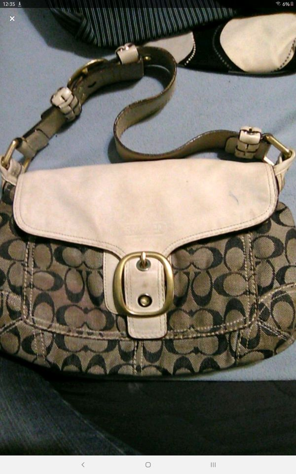 Coach Leather and Canvas Handbag