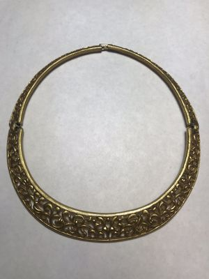 Golden Necklace / Choker Beautiful Design with Clasp Lock for Sale in Washington, DC