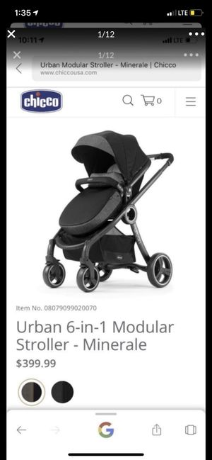 Urban 6-1 modular stroller and chair for car and stroller(all of the chicco brand) it's all complete for Sale in Redwood City, CA