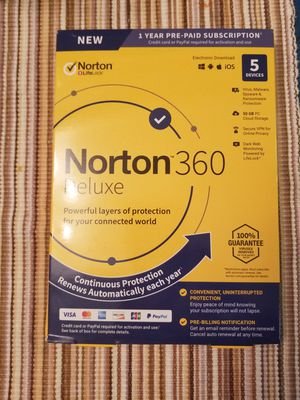 Norton 360 Deluxe New in packaging for Sale in Tempe, AZ