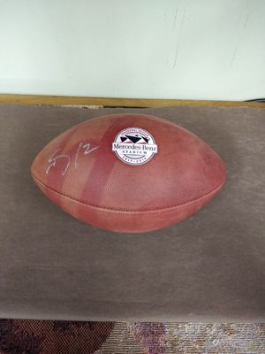 FOOTBALL AUTOGRAPHED INAUGURAL MERCEDES-BENZ STADIUM for Sale in Stone Mountain, GA