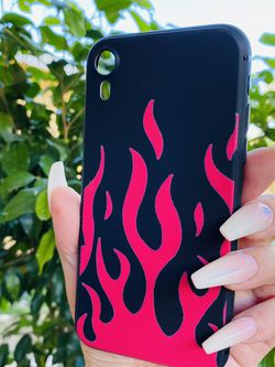 Brand new cool iphone XR case cover silicone Rubber Flames Thrasher Style Hype Girls guys womens mens hypebeast hype fundas for Sale in San Bernardino,  CA