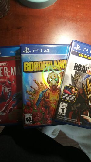 Ps4 pack of 3 games for Sale in Germantown, MD