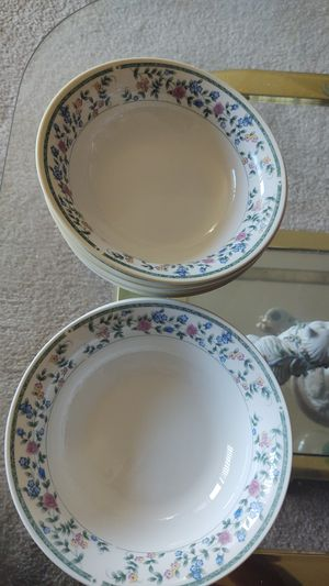 CHINA PEARL STONEWARE DIANE PATTERN# 39074 SET OF 7 SALAD for Sale in Suitland-Silver Hill, MD
