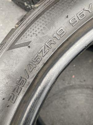 Mazda 6 Tires 225/45/19 Hankook (2 Tires) $60.00/ Both for Sale in Laguna Hills, CA