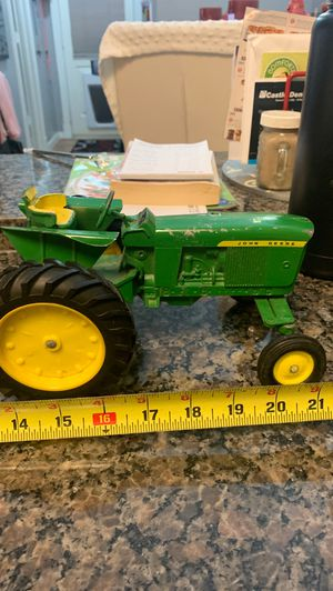 Vintage die cast John Deere tractor and vintages square hay baler attachment for Sale in Seabrook, TX