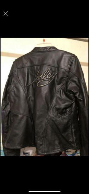Harley Davidson ladies leather jacket medium for Sale in Marion, LA