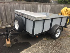 Utility trailer 8x5. New tires, spare tire, and truck box included for Sale in Tacoma, WA