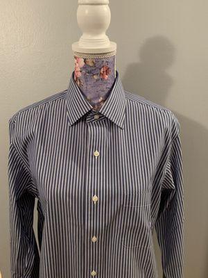 NWT Never Worn Brooks Brothers Milano Button Down Dress Shirt Non-Iron Blue/White Stripe 15.5/35 for Sale in Alexandria, VA