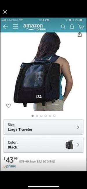 Rolling Pet Carrier Backpack for Sale in Seattle, WA