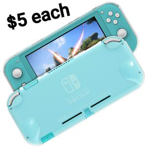 TPU Protector Case for Nintendo Switch Lite, Crystal Clear Soft Anti-Scratches Protective Shell Cover Bumper Back Silicone Case for $5 each for Sale in Los Angeles, CA