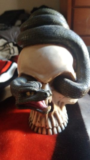 Skull And Snake Candle Holder. for Sale in Huntington Beach, CA