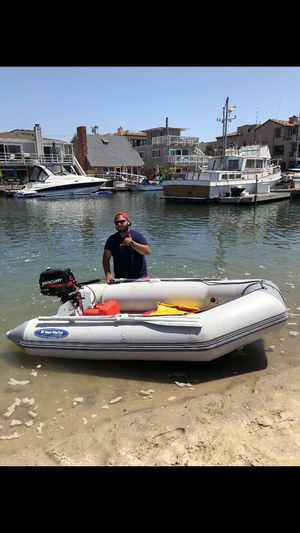 Inflatable boat with 4 stroke motor for Sale in Westminster, CA