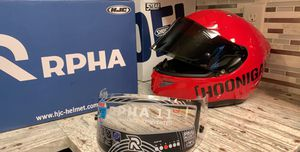 HJC Rpha11 pro custom motorcycle Helmet for Sale in Alexandria, VA