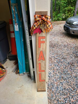 Fall sign for Sale in Wake Forest, NC