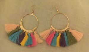 Multicolored tassels Earrings for Sale for sale  Bronx, NY