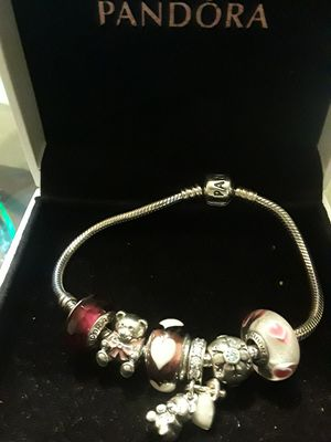 Authentic Pandora Bracelet with Authentic Charms for Sale in Detroit, MI