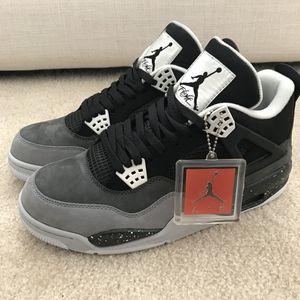 New Air Jordan 4 Black Grey Size 10 for Sale in Rockville, MD