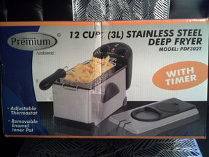 3 Liter Stainless Steel Deep Fryer for Sale in Oxon Hill, MD