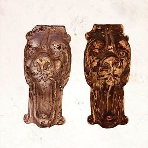 Antique Wood Carved Lion Head Furniture Appliqués for Sale in ELEVEN MILE, AZ