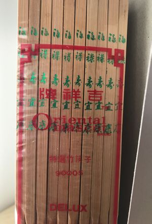 100 Delux Bamboo chopsticks 10 pairs in each pack for Sale in Norfolk, VA