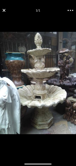Cement water fountain for Sale in Fontana, CA