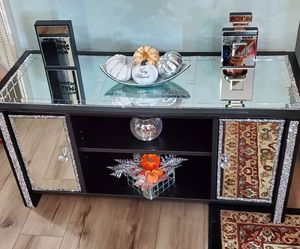 Mirrored cabinet console entry table for Sale in Cypress, TX