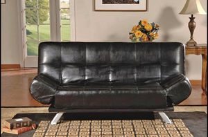 BLACK LEATHER FUTON/SOFABED for Sale in Cockeysville, MD