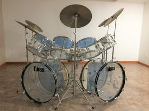 Fibes Double Forte Clear Cristalite Drum Set for Sale in Parma Heights, OH