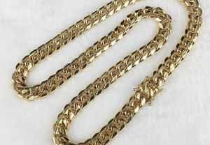 Stamped 18k Miami Cuban men chain necklace for Sale in San Jose, CA