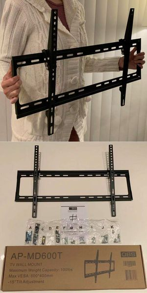 Brand New LCD LED Plasma Flat Tilt Adjustable TV Wall Mount stand bracket fits 32 to 65 inch tv sizes television bracket 100 lbs capacity for Sale in Whittier, CA