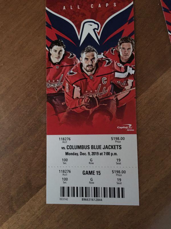 2 Washington Capitals Tickets