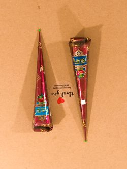 2pcs Kaveri Henna Cone 100% Organic, 100% Color Guarantee, Chemical Free for Sale in Hempstead,  NY