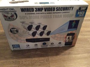 Night owl security hd setup for Sale in Charlotte, NC