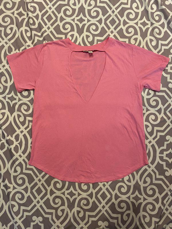 Size Medium Hot Pink F21 Forever 21 T Shirt Cutout Summer Kawaii Basic
