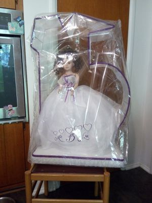 Quinceanera doll wrapped in plastic for Sale in Oceanside, CA