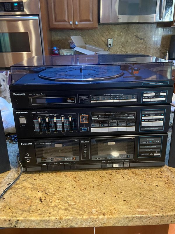 Vintage Panasonic Stereo System SG-D35 with 2 Original Speakers and Manual