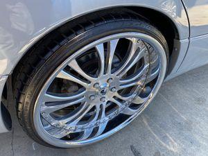 "22"" Asantis AF132 rims wheels tires...asanti forgiato lexani dub mht lexus nissan toyota rines for Sale in Los Angeles, CA"