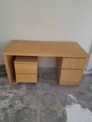 55 by 25 heavy wood desk for Sale in Royal Palm Beach, FL