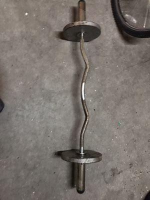 Curling bar weights for Sale in San Bernardino, CA